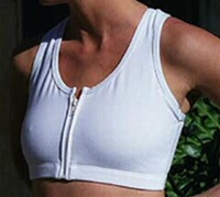 Zip front mastectomy bra